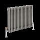 Radiador de Diseño Horizontal Triple Tradicional - Acero Dulce - Lacado Metal Rudo - 600mm x 785mm - 1243 Vatios - Regent