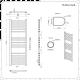 Radiador Toallero Eléctrico Plano - Cromado - 1200mm x 500mm - Eco