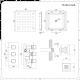 Conjunto de Ducha Termostático Triple de 2 Funciones con Jets de Ducha y Alcachofa Empotrable de 400mm - Kubix