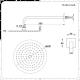 Conjunto de Ducha con Mezclador de Ducha Termostático Triple de 2 Funciones con Alcachofa Redonda de 200mm con Telefonillo de Color Níquel Cepillado - Aldwick