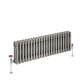 Radiador de Diseño Horizontal Triple Tradicional - Acero Dulce - Lacado Metal Rudo - 300mm x 1010mm - 889 Vatios - Windsor