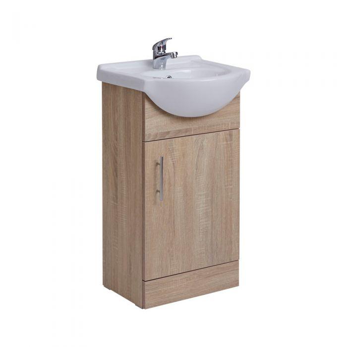Mueble de Lavabo Efecto Roble 44x78x45cm