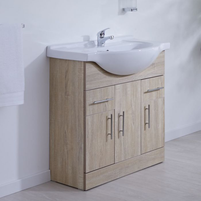 Mueble de Lavabo Efecto Roble 75x78x48cm