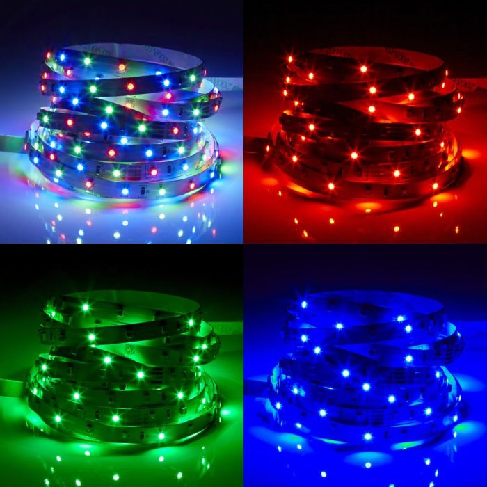 Biard Tira de 60 Luces LED de 5 Metros RGB Color Rojo Verde y Azul