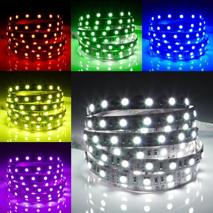 Biard Tira de 60 Luces Flexible LED de 5 Metros RGB Color Rojo Verde y Azul