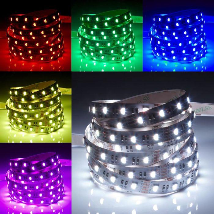 Biard Tira de Luces LED de 5 Metros RGB Ultra Brillante Rojo Verde y Azul IP20