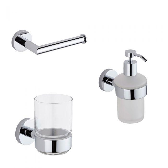 Conjunto de 3 Accesorios Modernos Para Cuarto de Baño - Prise
