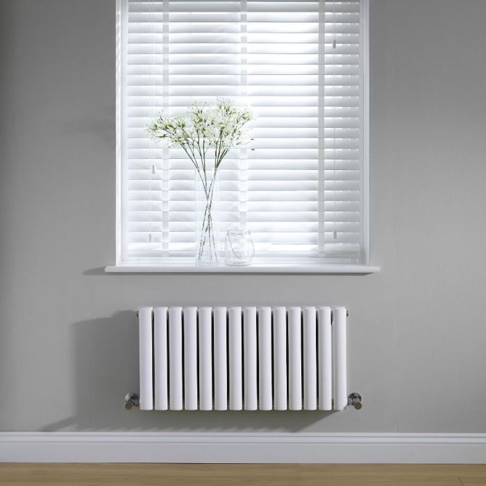 Radiador de Diseño Horizontal Doble - Blanco - 400mm x 834mm x 78mm - 964 Vatios - Revive