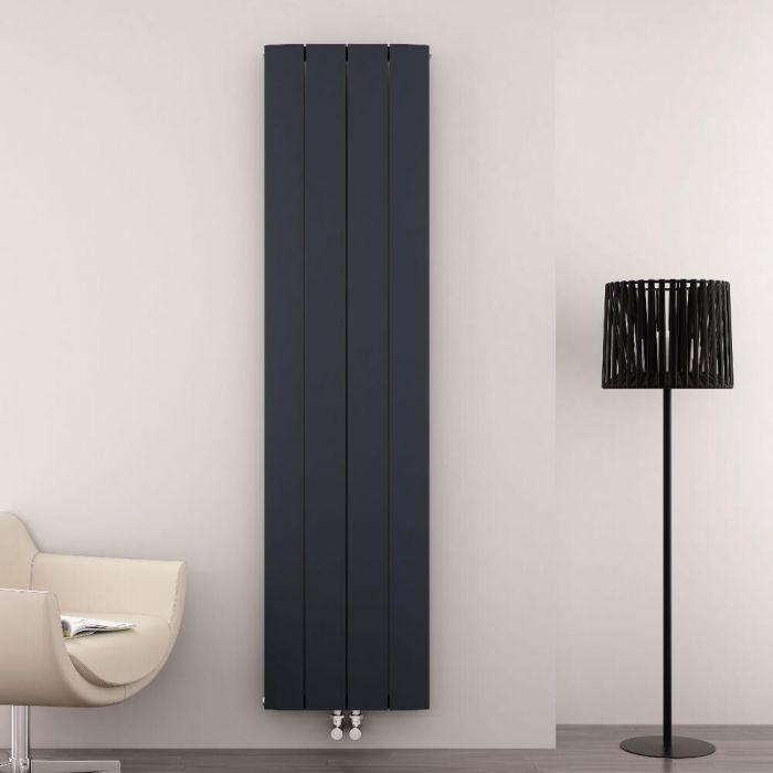 Radiador de Diseño Vertical Con Conexión Central - Aluminio - Antracita - 1800mm x 375mm x 45mm - 1535 Vatios - Aurora