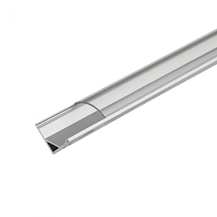5 x Perfiles de Superficie Angulares en Aluminio para Tiras LED 100cm