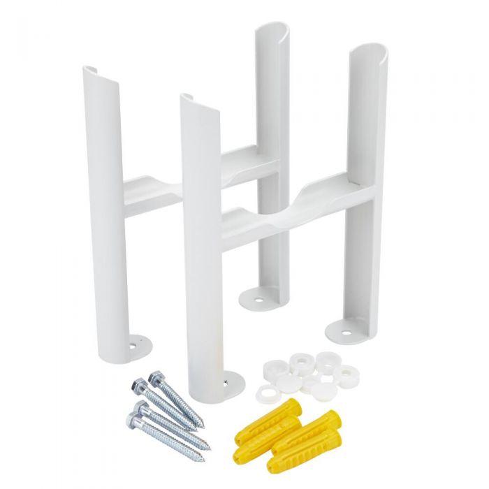 Conjunto de Soporte para Montaje a Suelo Para Radiadores Tradicionales Blancos con 4 Columnas