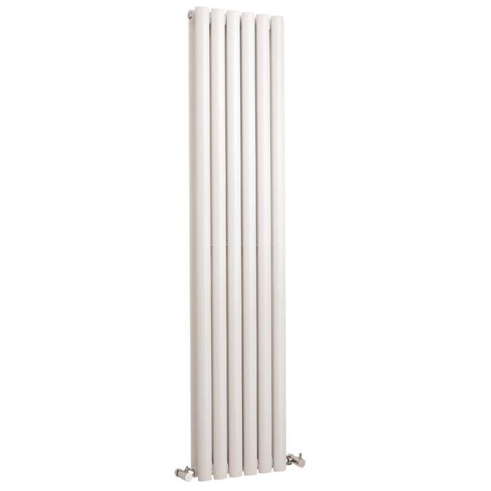 Radiador de Diseño Vertical Doble - Blanco - 1500mm x 354mm x 78mm - 1512 Vatios - Revive