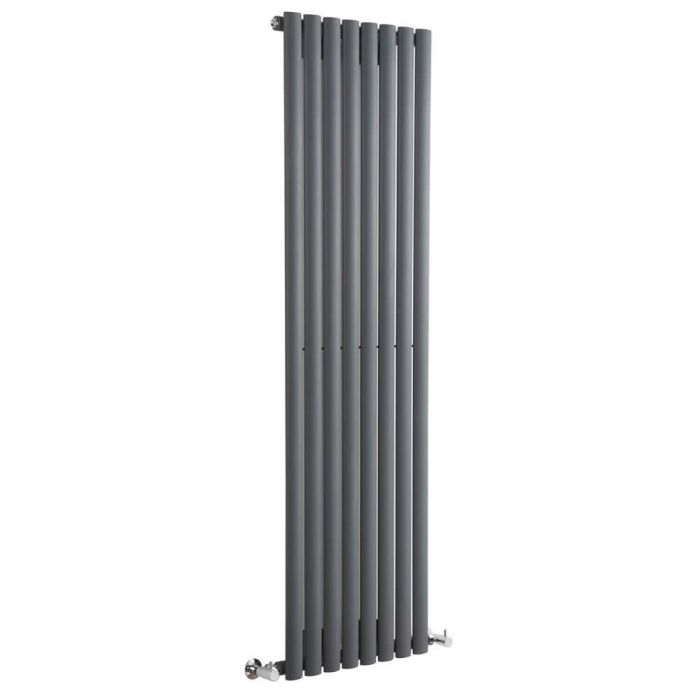 Radiador de Diseño Vertical - Antracita - 1600mm x 472mm x 56mm - 1121 Vatios - Revive