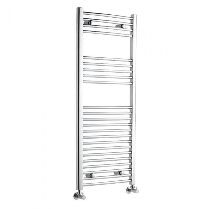 Radiador Toallero Curvo - Cromado - 1200mm x 500mm x 42mm - 449 Vatios - Ladder