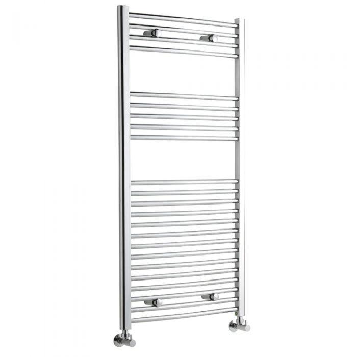 Radiador Toallero Curvo - Cromado - 1200mm x 600mm x 46mm - 522 Vatios - Ladder