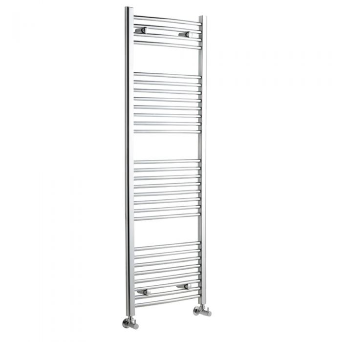 Radiador Toallero Curvo - Cromado - 1500mm x 600mm x 46mm - 554 Vatios - Ladder