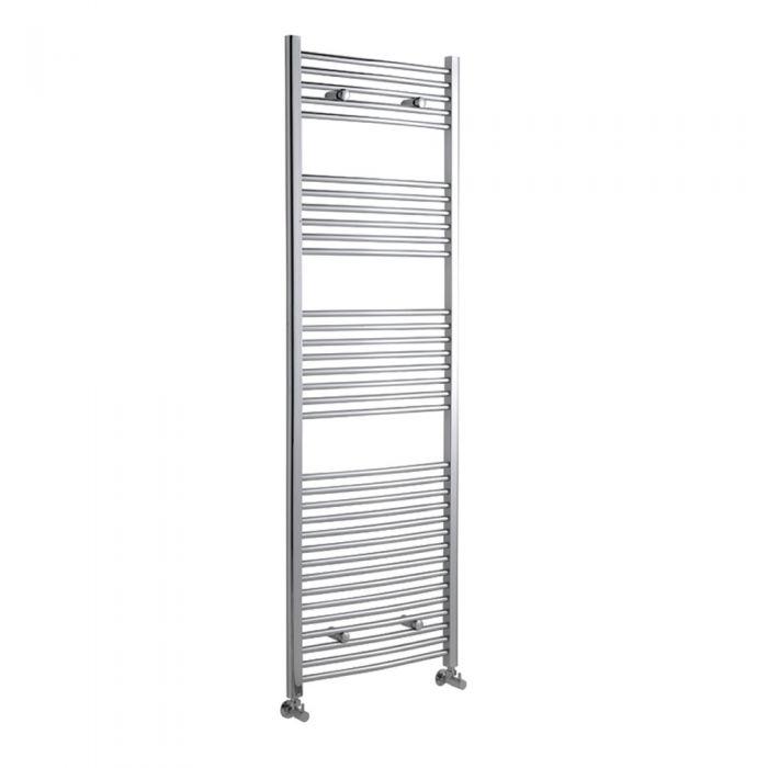 Radiador Toallero Curvo - Cromado - 1800mm x 600mm x 46mm - 669 Vatios - Ladder