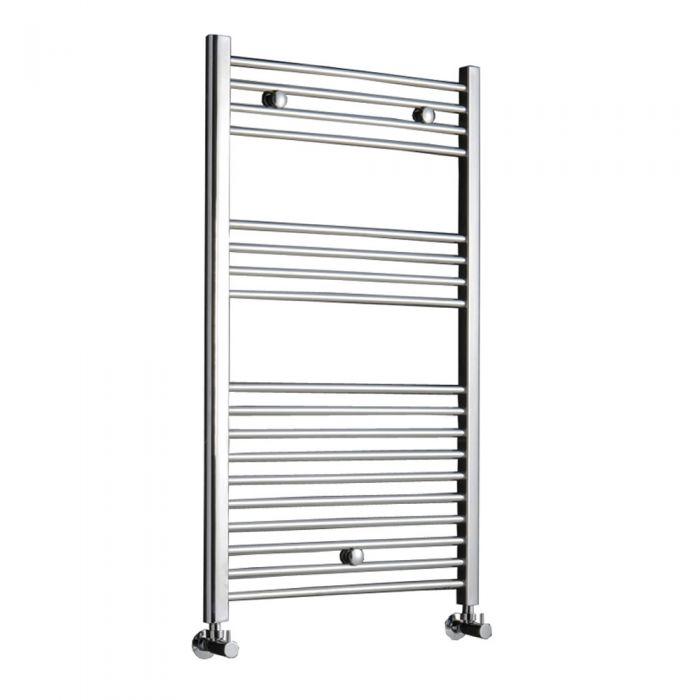 Radiador Toallero Curvo - Cromado - 1000mm x 500mm x 30mm - 366 Vatios - Ladder