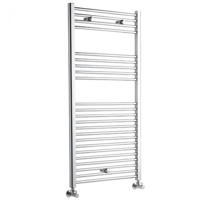 Radiador Toallero Plano - Cromado - 1200mm x 600mm x 30mm - 533 Vatios - Ladder
