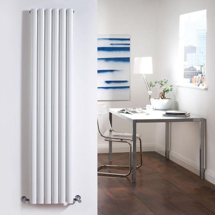 Radiador de Diseño Vertical Doble - Blanco - 1780mm x 354mm x 78mm - 1401 Vatios - Revive