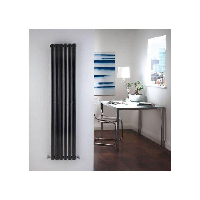 Radiador de Diseño Vertical - Negro - 1600mm x 354mm x 56mm - 841 Vatios - Revive