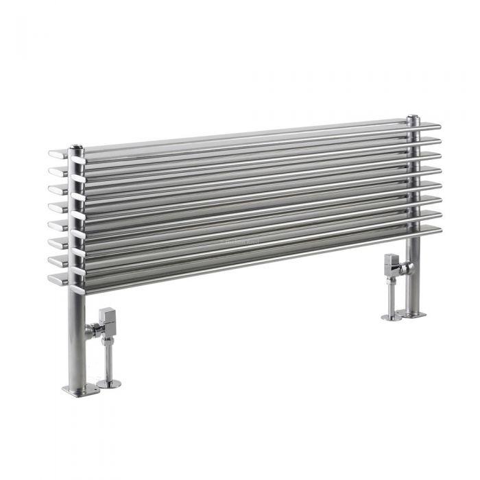 Radiador de Diseño Horizontal Doble - Plateado - 504mm x 1000mm x 146mm - 1016 Vatios - Parallel