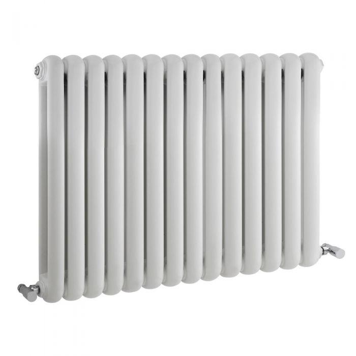 Radiador de Diseño Horizontal Doble Tradicional - Blanco - 635mm x 863mm x 80mm - 1496 Vatios - Saffre