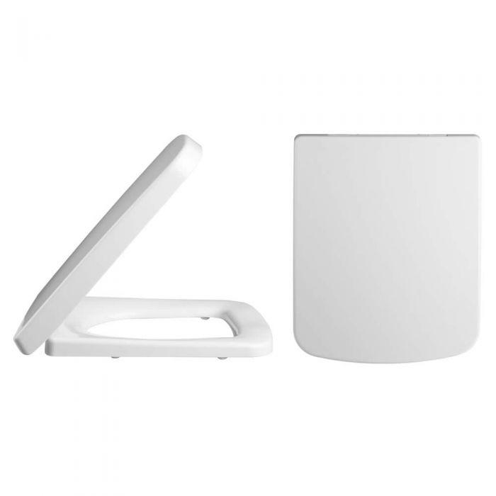 Tapa y Asiento para Inodoro WC Color Blanco con Cierre Amortiguado