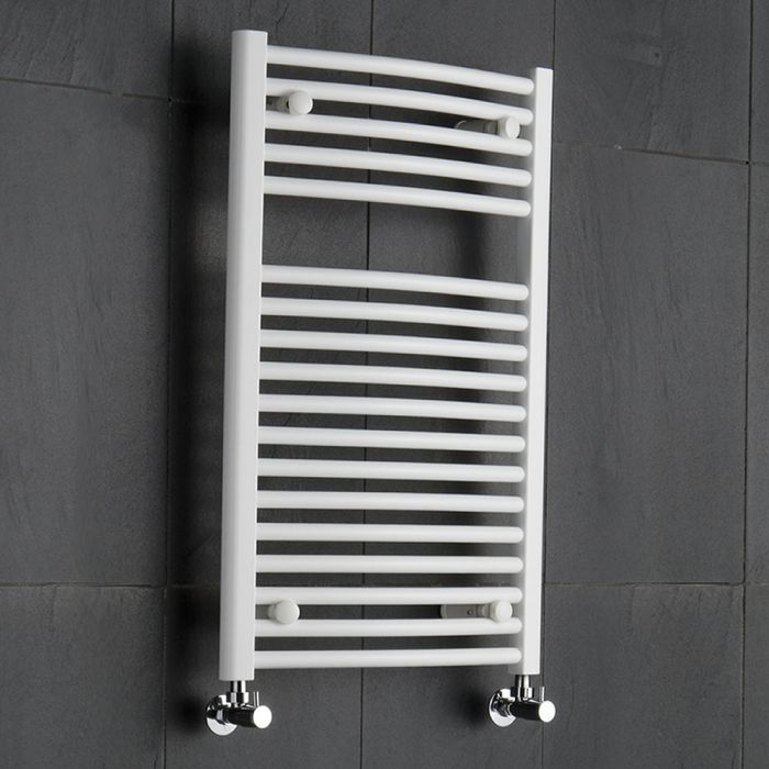 Radiador Toallero Curvo - Blanco - 800mm x 500mm - 466 Vatios - Sterling