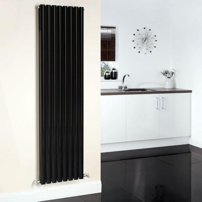 Radiador de Diseño Vertical Doble - Negro - 1780mm x 472mm - 1868 Vatios - Revive