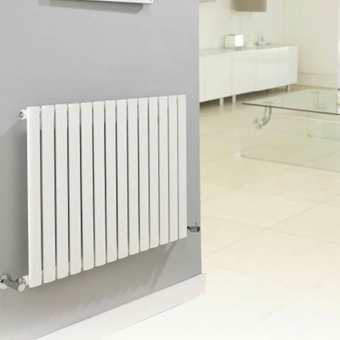 Radiador de Diseño Horizontal - Blanco - 635mm x 1180mm x 56mm - 1193 Vatios - Revive