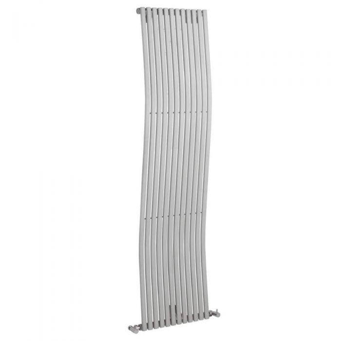 Radiador de Diseño Vertical - Plateado - 1600mm x 456mm x 90mm - 1185 Vatios - Ola
