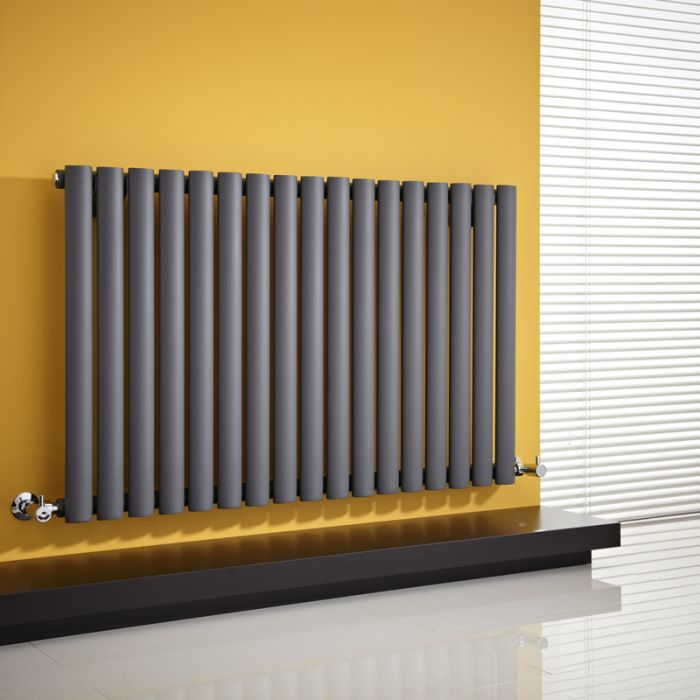 Radiador de Diseño Horizontal - Antracita - 635mm x 1000mm x 55mm - 1014 Vatios - Revive