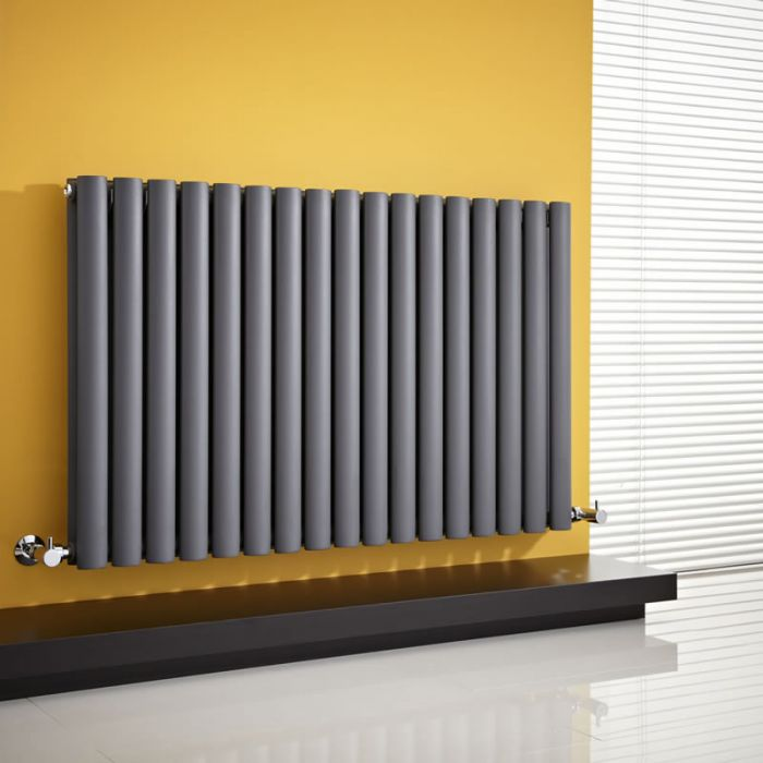 Radiador de Diseño Horizontal Doble - Antracita - 635mm x 1000mm x 78mm - 1583 Vatios - Revive