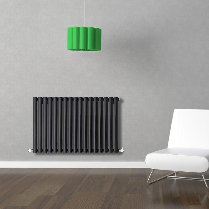 Radiador de Diseño Horizontal - Negro - 635mm x 1000mm x 55mm - 1014 Vatios - Revive