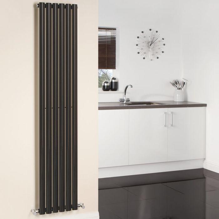 Radiador de Diseño Vertical - Negro - 1780mm x 354mm x 56mm - 892 Vatios - Revive