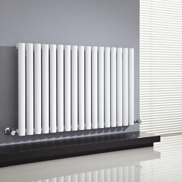 Radiador de Diseño Horizontal - Blanco - 635mm x 1000mm x 55mm - 1014 Vatios - Revive
