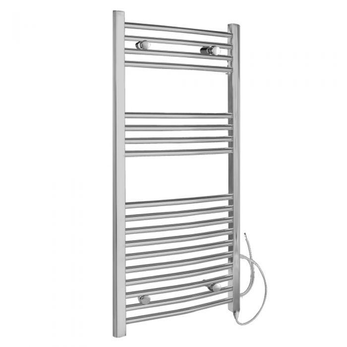 Radiador Toallero Eléctrico Curvo - Cromado - 1000mm x 500mm x 42mm - Ladder