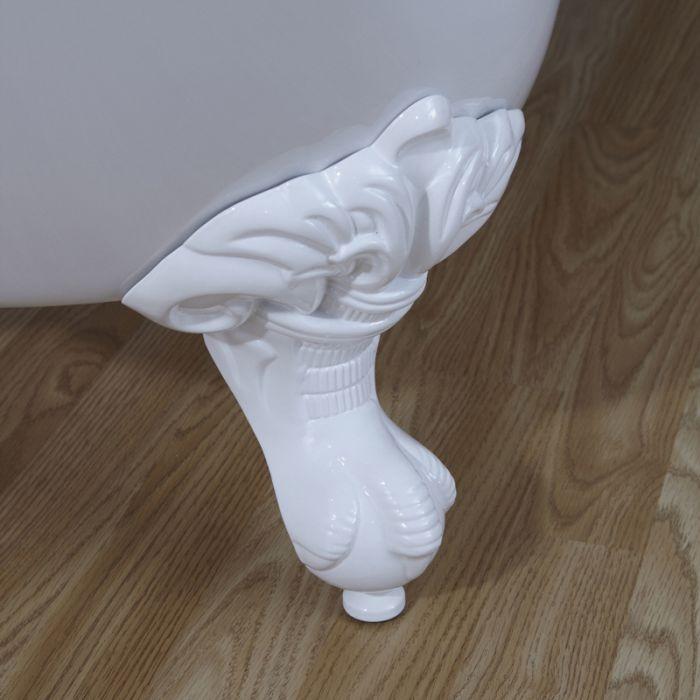 Pies de Soporte en Blanco para Bañeras Clásicas Exentas con Patas