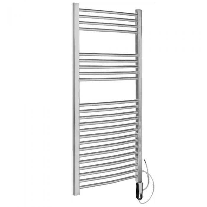 Radiador Toallero Eléctrico Curvo Termostático- Cromado - 1200mm x 600mm x 46mm - Ladder