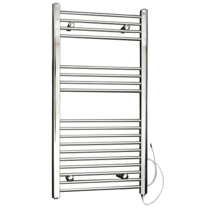 Radiador Toallero Eléctrico Plano - Cromado - 1000mm x 500mm x 30mm - Ladder