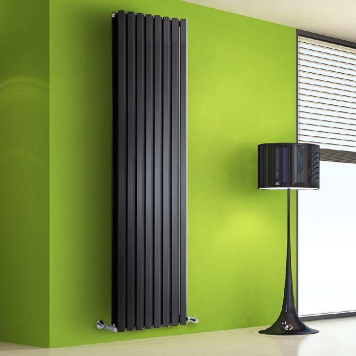 Radiador de Diseño Vertical Doble - Negro Lúcido - 1780mm x 560mm x 86mm - 2158 Vatios - Rombo
