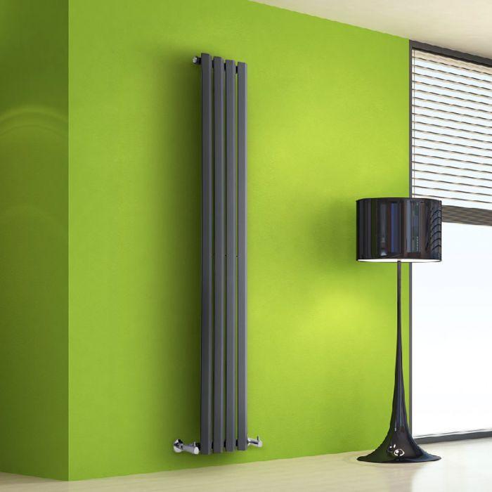 Radiador de Diseño Vertical - Antracita - 1600mm x 280mm x 60mm - 630 Vatios - Rombo