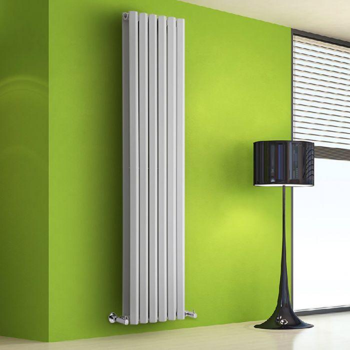 Radiador de Diseño Vertical Doble - Blanco - 1780mm x 560mm x 86mm - 2158 Vatios - Rombo