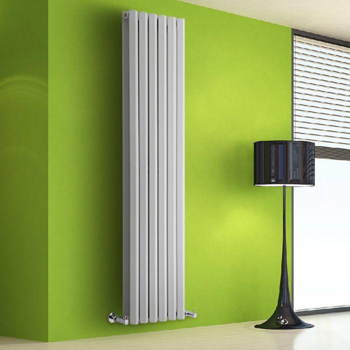 Radiador de Diseño Vertical Doble - Blanco - 1780mm x 420mm x 86mm - 1618 Vatios - Rombo
