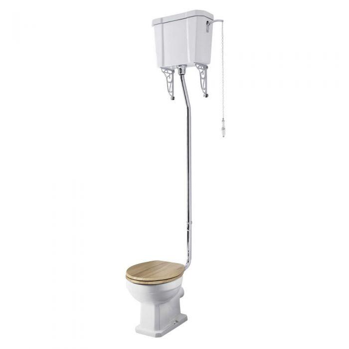 Pack de WC Tradicional con Inodoro y Cisterna Alta Cadena y Tapa