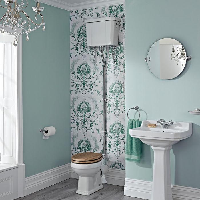 Pack de WC Tradicional con Inodoro y Cisterna Alta Cadena y Opción de Distintas Tapas de WC