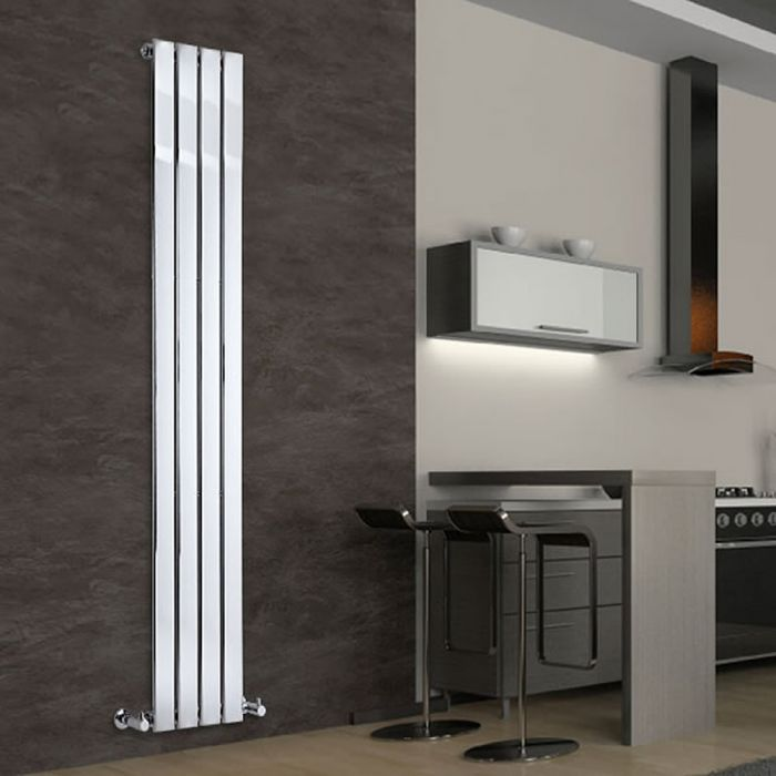 Radiador de Diseño Vertical - Cromado - 1800mm x 300mm x 50mm - 445 Vatios - Delta