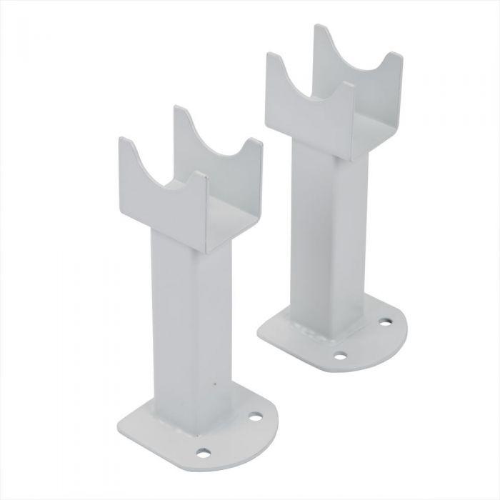 Conjunto de Montaje a Suelo Para Radiadores Fin en Blanco