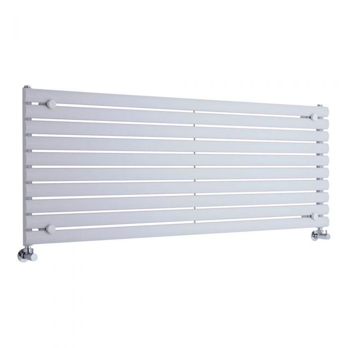 Radiador de Diseño Horizontal - Blanco - 590mm x 1600mm x 78mm - 1298 Vatios - Revive